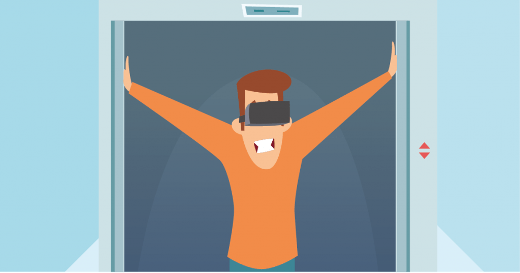 Virtual reality claustrofobie