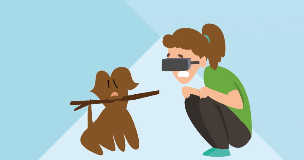 Virtual reality hondenfobie